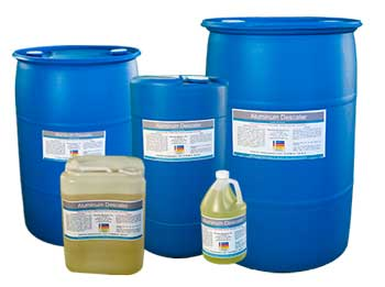 Aluminum Descaler is the first and only Descaler that dissolves Calcium and Rust (Iron Oxide) for Plastic Injection