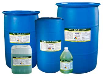 Aqua Safe Descaler Solution is great for steel, stainless steel, iron, brass, copper, plastic and Ideal as a heat exchange descaler, boiler descaler and more.