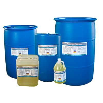Aluminum Descaler is the first and only Descaler that dissolves Calcium and Rust (Iron Oxide) for Plastic Injection and